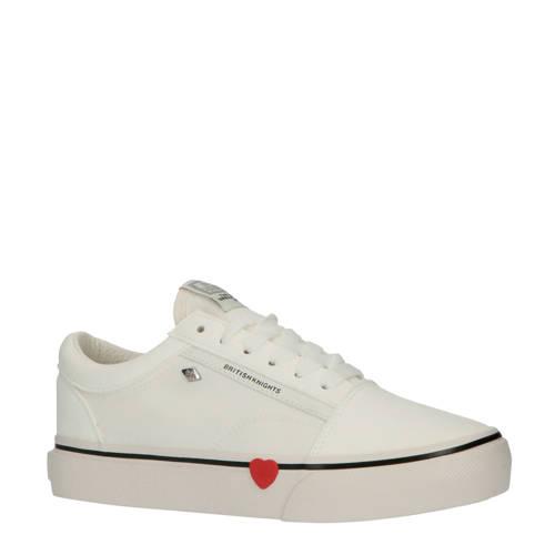 British Knights Platform Mack canvas sneakers wit-rood