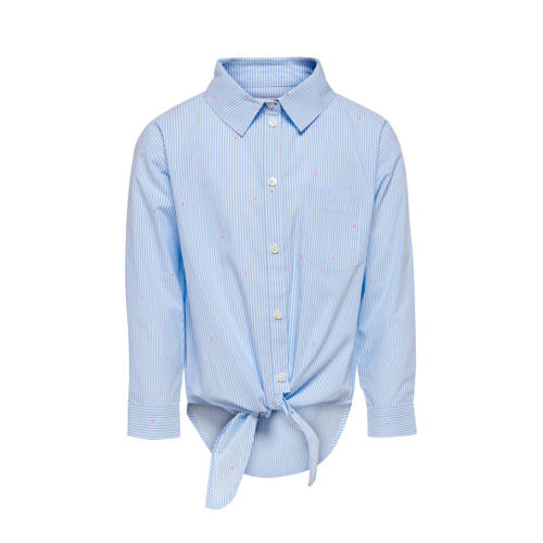 KIDS ONLY gestreepte blouse lichtblauw/wit/roze