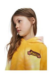 Scotch & Soda tie-dye hoodie geel/lichtroze/wit, Geel/lichtroze/wit