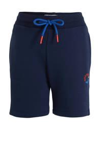 Scotch & Soda sweatshort met logo donkerblauw/blauw/oranje, Donkerblauw/blauw/oranje