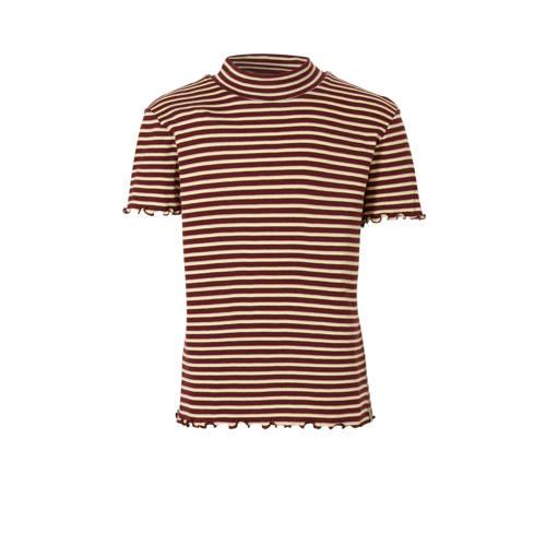 Scotch & Soda gestreept T-shirt donkerrood/lic