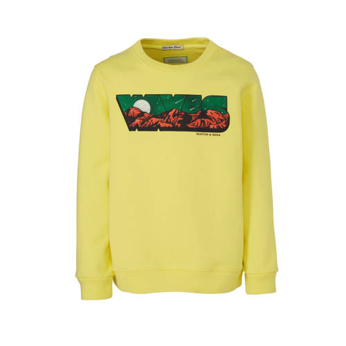 Scotch & Soda sweater met printopdruk lichtgee