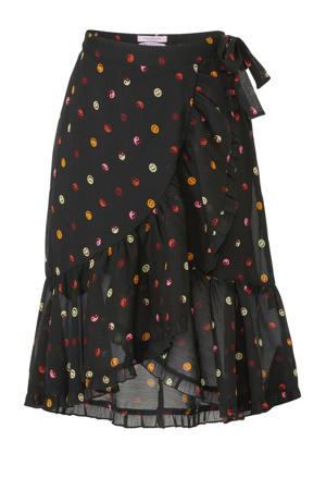 rok met stippen zwart/roze/geel