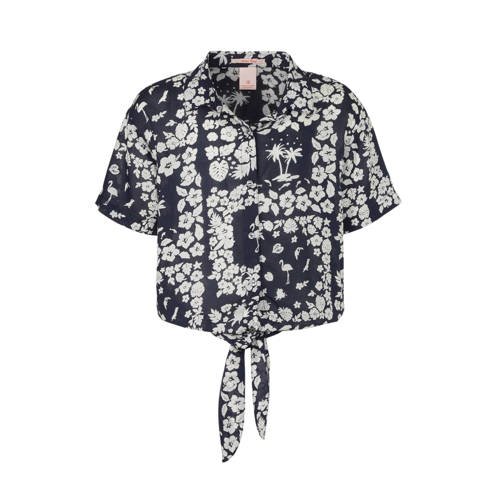 Scotch & Soda blouse met all over print donker