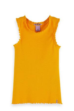 top en franjes licht oranje
