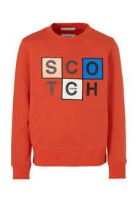 Scotch & Soda sweater met printopdruk brique, Brique