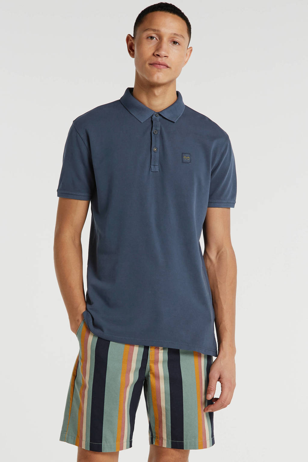 New in Town slim fit polo night blue, NIGHT BLUE