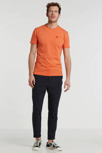 New in Town T-shirt met logo orange, Orange