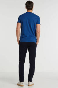 New in Town T-shirt met logo blue