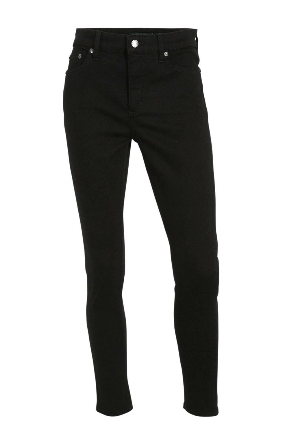 Lauren Ralph Lauren cropped skinny jeans Regal zwart, Zwart