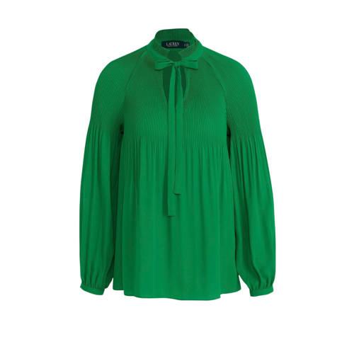 Lauren Ralph Lauren top en plooien groen