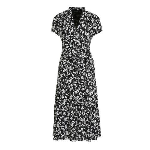 Lauren Ralph Lauren gebloemde maxi A-lijn jurk zwa
