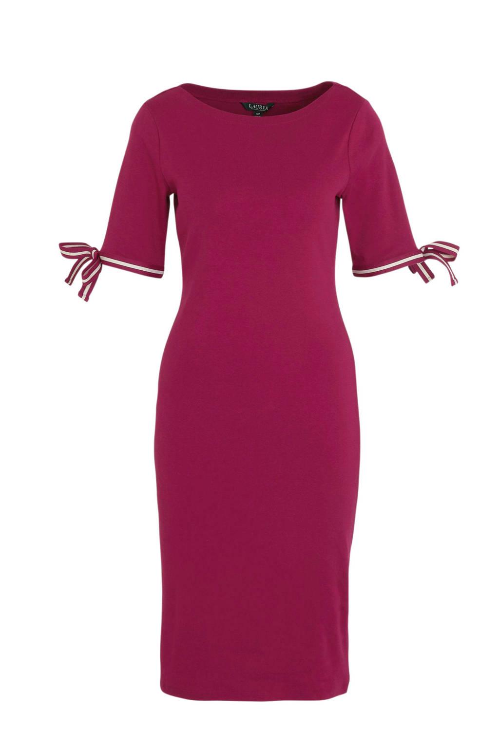 Lauren Ralph Lauren jersey jurk Brandeis fuchsia, Fuchsia