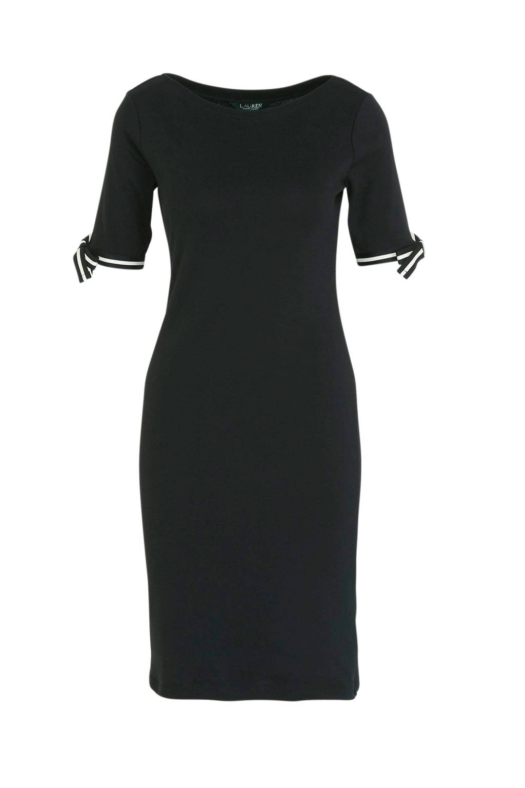 Lauren Ralph Lauren jersey jurk zwart, Zwart