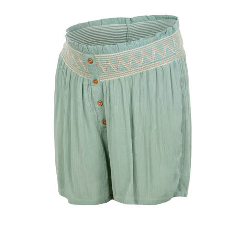 MAMALICIOUS loose fit short Hailey groen