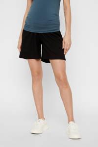 MAMALICIOUS low waist regular fit zwangerschapssweatshort Lif zwart, Zwart