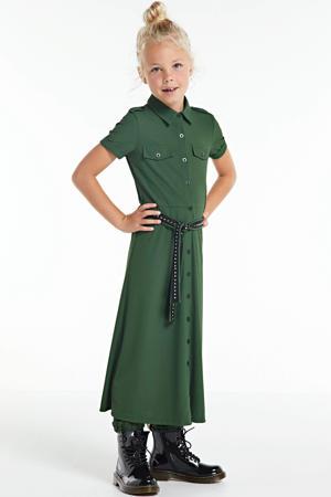 jurk Hedy donkergroen