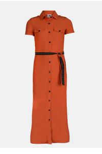 Jill & Mitch by Shoeby blousejurk met ceintuur donker oranje, Donker oranje