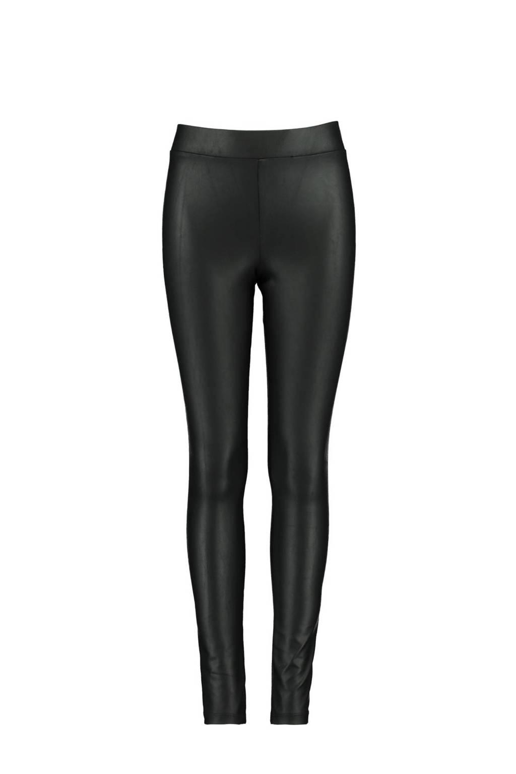 CoolCat Junior gecoate legging zwart, Zwart