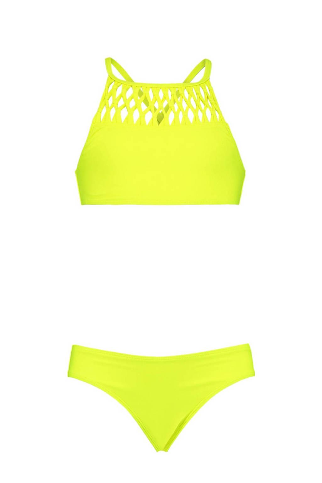 CoolCat Junior crop bikini Yessie neon geel, Neon geel