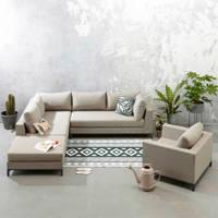 Exotan loungeset Sicilië links incl. stoel, Taupe