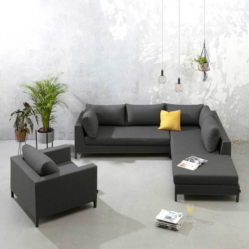 Exotan loungeset Sicilië rechts incl. stoel, Zwart