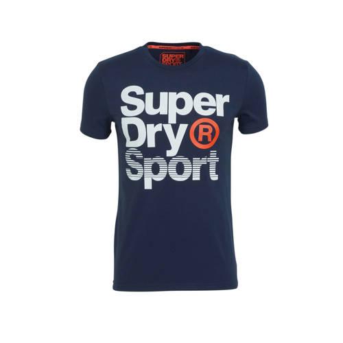 Superdry Sport T-shirt donkerblauw