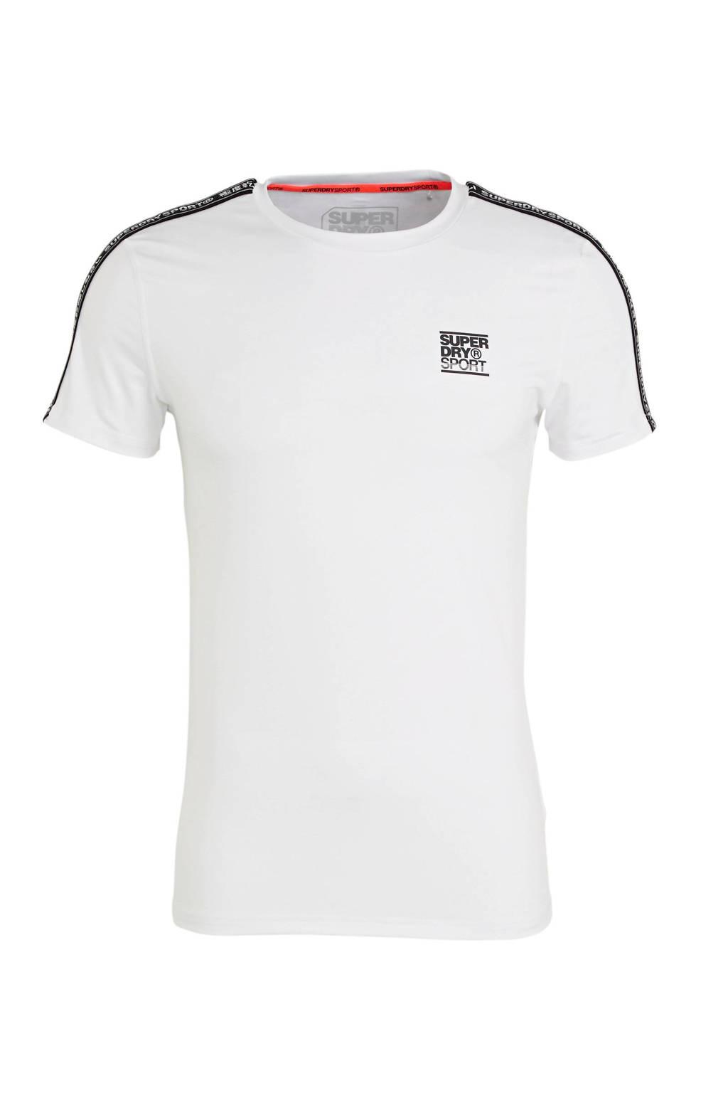 Superdry Sport   sport T-shirt wit, Wit