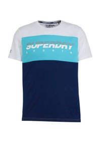 Superdry Sport   T-shirt wit/blauw, Wit