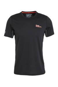 Superdry Sport   T-shirt zwart, Zwart