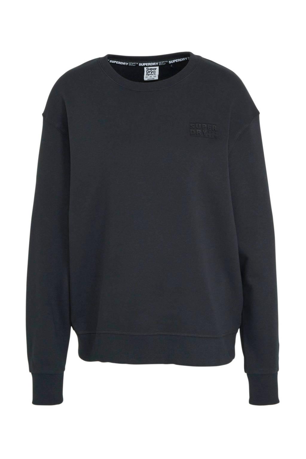 Superdry Sport sweater zwart, Zwart