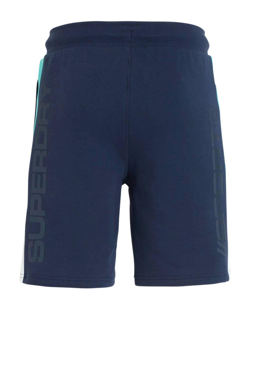 Superdry Sport   joggingshort blauw, Blauw