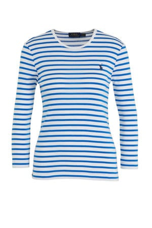 gestreepte top blauw/wit