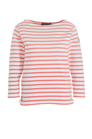 gestreept T-shirt rood/wit