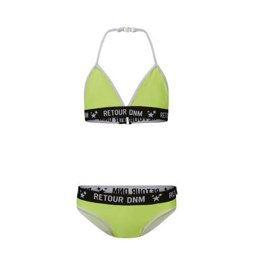 Retour Denim triangel bikini Abby geel/zwart