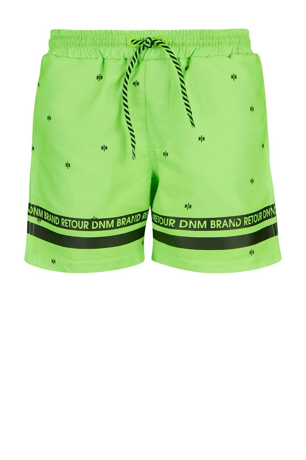 Retour Denim zwemshort Zeb neon groen, Neon groen