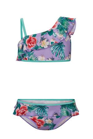 gebloemde bikini Editta lila