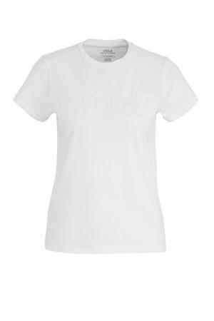 T-shirt en textuur wit