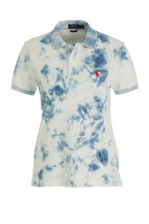 tie-dye polo blauw