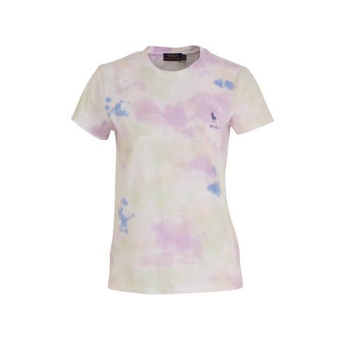 POLO Ralph Lauren tie-dye T-shirt roze/geel