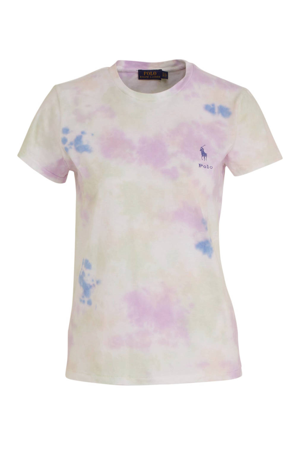 POLO Ralph Lauren tie-dye T-shirt roze/geel, Roze/geel