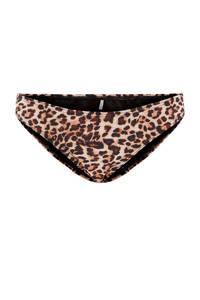 PIECES bikinibroekje Naomi met panterprint beige/bruin, Beige/bruin