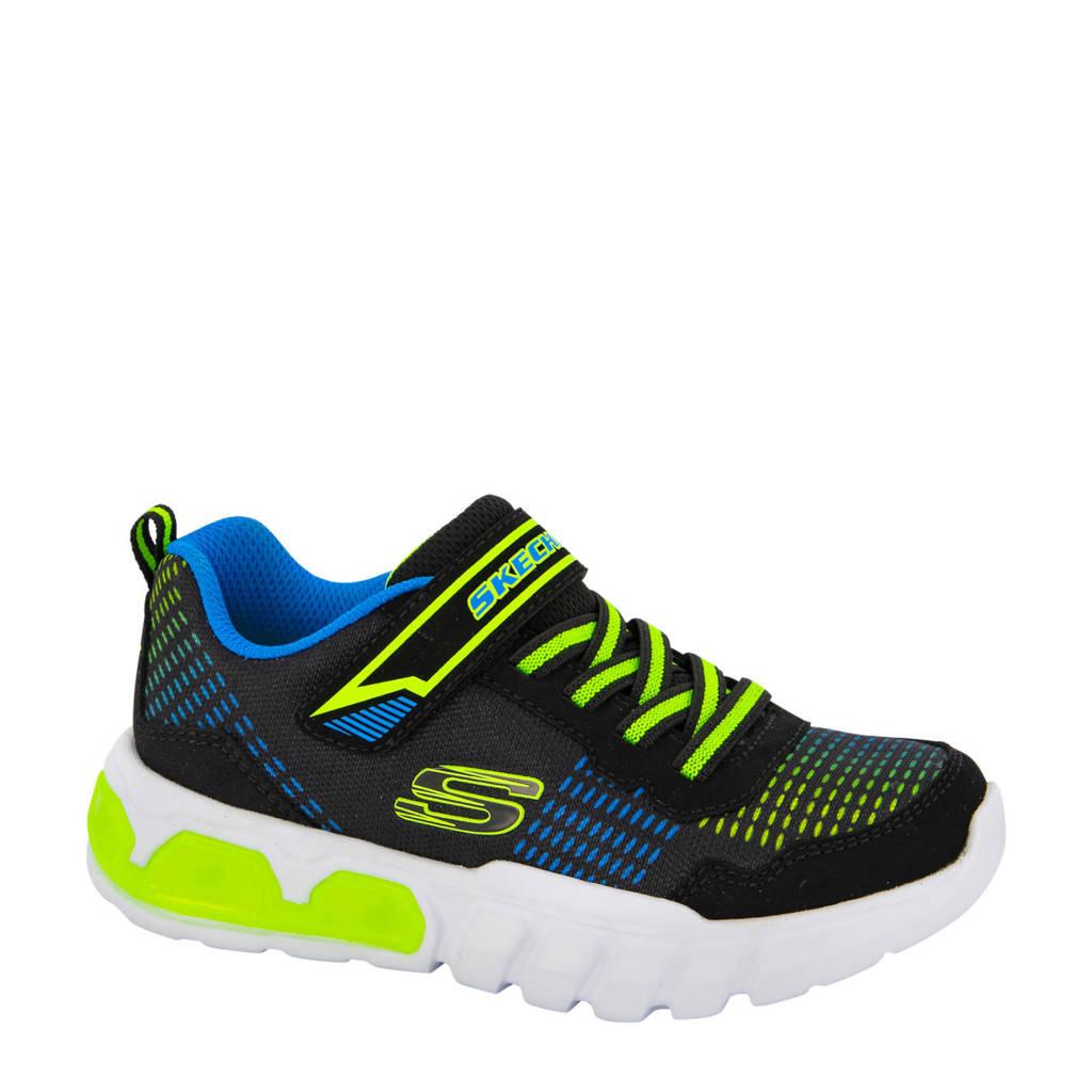 Skechers   sneakers met lichtjes zwart/multi, Zwart/multi