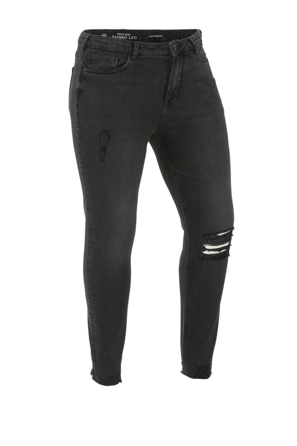 C&A XL Clockhouse high waist skinny jeans antractiet, Antractiet