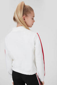 C&A sweater met printopdruk ecru/blauw/rood, Ecru/blauw/rood