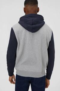 C&A Angelo Litrico hoodie met logo grijs/marine, Grijs/marine