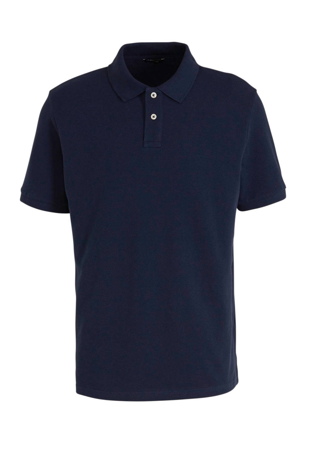 C&A Angelo Litrico regular fit polo donkerblauw, Donkerblauw
