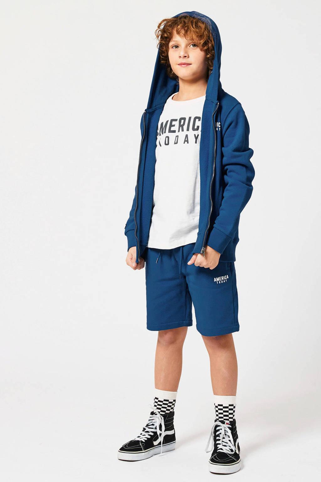 America Today Junior vest Stanwood met logo kobalt/wit