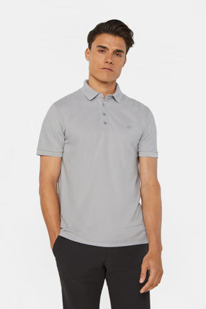 slim fit polo light grey