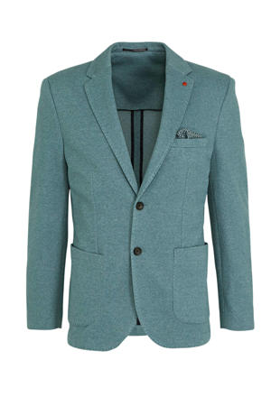 gemêleerd slim fit colbert grey green